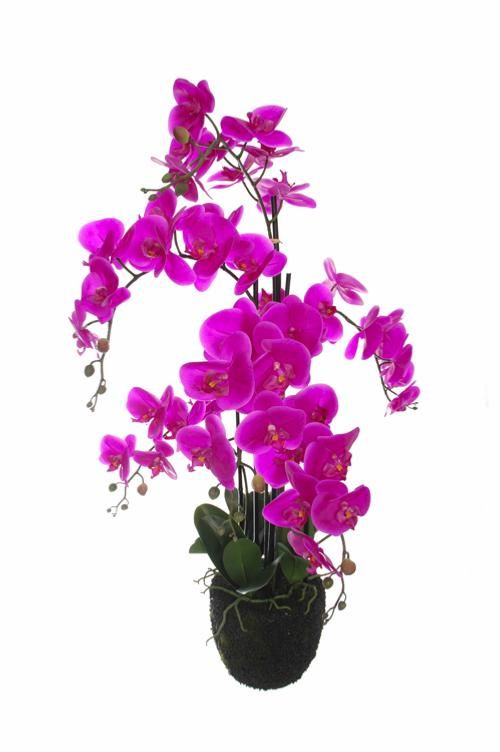 Plante artificielle orchid e en pot pour int rieur 94 cm for Belle plante artificielle
