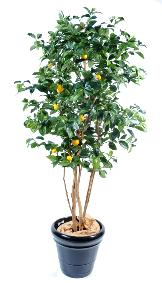 Arbre fruitier artificiel Citronnier et fruits - plante intérieur - H.150 cm