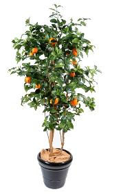 Arbre artificiel fruitier Oranger new - intérieur - H.180 cm vert orange