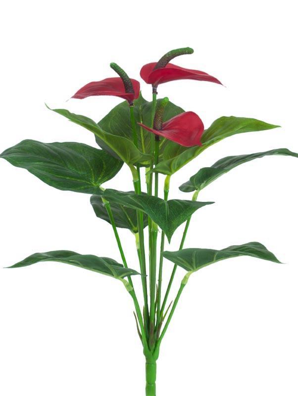fleur artificielle anthurium en piquet plante d 39 int rieur cm rouge. Black Bedroom Furniture Sets. Home Design Ideas
