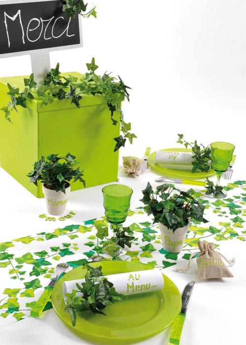 Plante artificielle lierre en pot 18cm vert santex for Bac lierre plastique