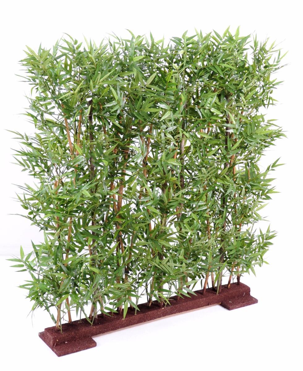Haie artificielle bambou oriental feuillage dense - Plante artificielle pour exterieur ...