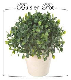 plante artificielle buis en pot santex. Black Bedroom Furniture Sets. Home Design Ideas