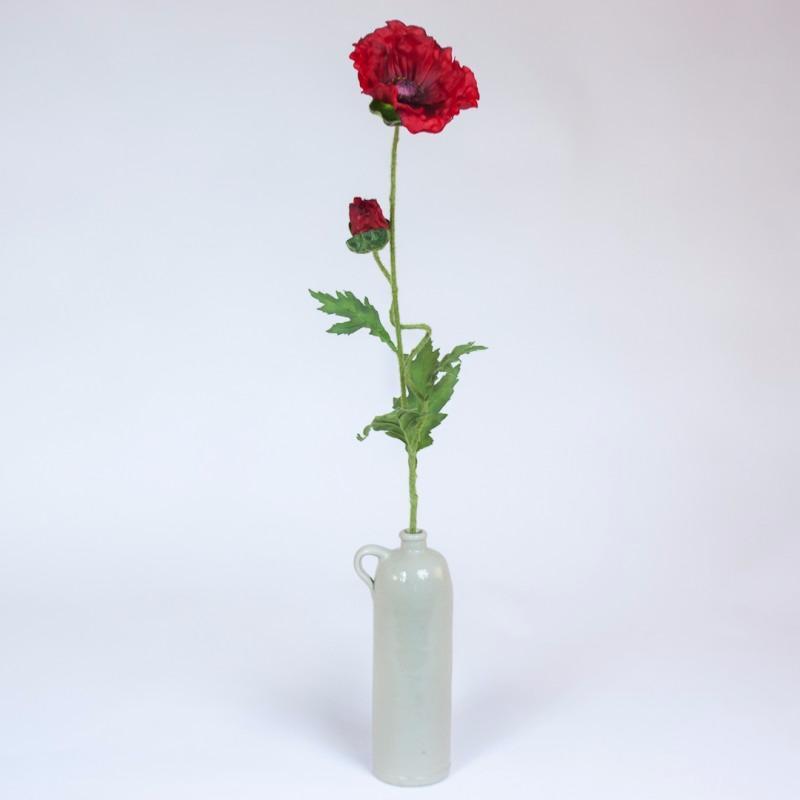 Fleur Artificielle Xl Coquelicot Geant D Interieur H 81 Cm Rouge