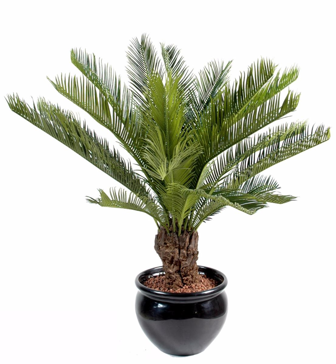 Palmier artificiel cycas tronc plante int rieur for Plantes fleuries exterieur en pot