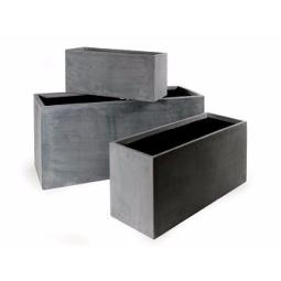 bac pour fleur jardini re ext rieur gris b ton polystone. Black Bedroom Furniture Sets. Home Design Ideas