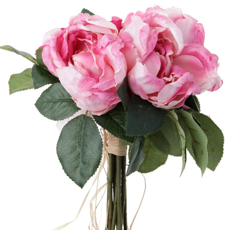 bouquet artificiel pivoines et roses fleurs en tissu h. Black Bedroom Furniture Sets. Home Design Ideas