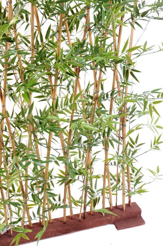 Haie artificielle bambou japanese plastique uv int rieur for Bac lierre plastique