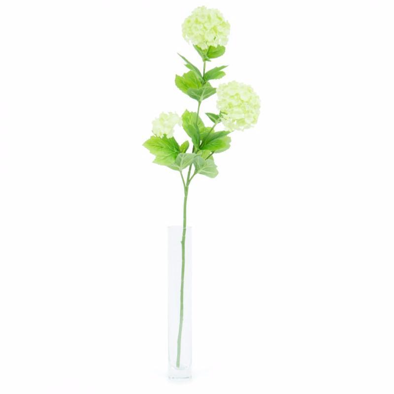 Fleur Artificielle Boule De Neige 2 Fleurs 1 Bouton Composition