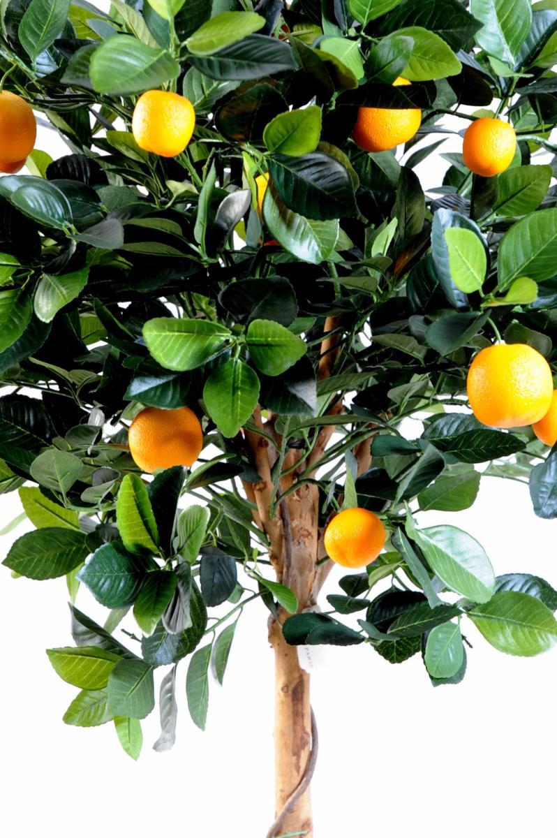 arbre artificiel fruitier oranger t te en pot int rieur cm vert orange. Black Bedroom Furniture Sets. Home Design Ideas