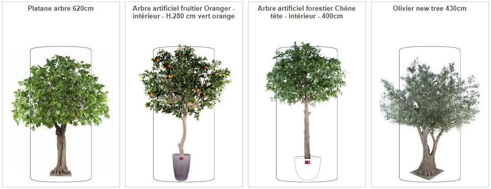 Location de plantes artificielles arbres semi naturels for Arbre geant artificiel