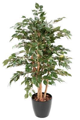 GreenBrokers Ficus Artificiel panach/é 140 cm