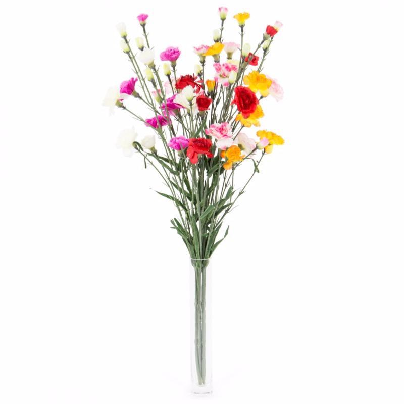 Fleur artificielle Oeillet 6 tiges- composition bouquet ...