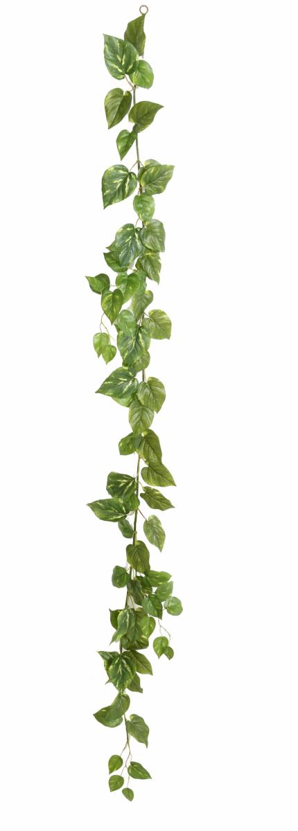 Guirlande artificielle pothos 68 feuilles d coration for Guirlande decoration interieur