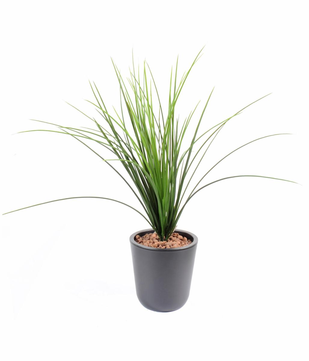 Plante artificielle herbe onion grass plastique en piquet for Plantes en plastique exterieur