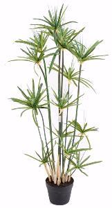 plante artificielle papyrus alternifolius en pot int rieur h 125 cm vert. Black Bedroom Furniture Sets. Home Design Ideas