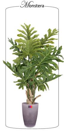 Plante artificielle tropicale monstera d coration d 39 int rieur cm for Plante 90 cm