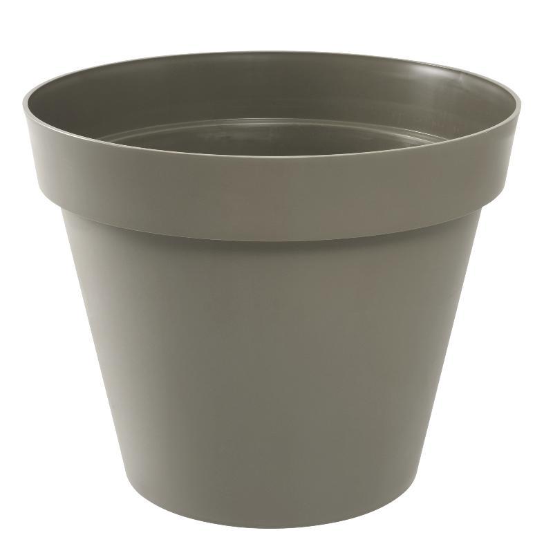 pot pour fleur toscane rond int rieur ext rieur 80 cm taupe eda plastiques. Black Bedroom Furniture Sets. Home Design Ideas