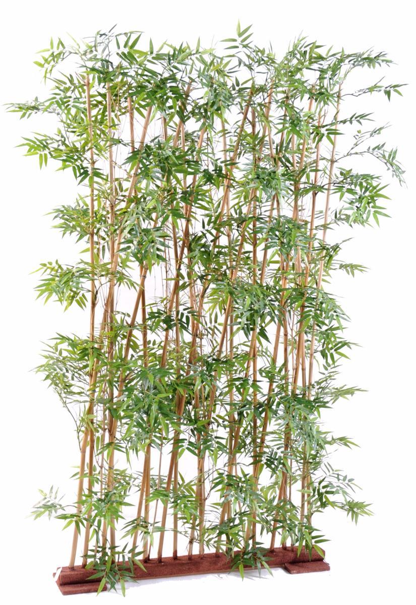 haie artificielle bambou oriental int rieur h 185cm vert. Black Bedroom Furniture Sets. Home Design Ideas