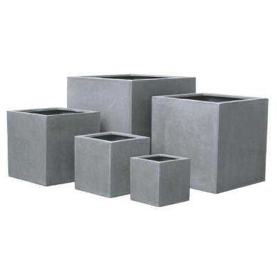 pot pour fleur bac cube int rieur ext rieur gris b ton fiberstone. Black Bedroom Furniture Sets. Home Design Ideas
