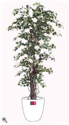 plante artificielle fleurie bougainvill e int rieur 180 cm blanc. Black Bedroom Furniture Sets. Home Design Ideas