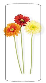 Fleur artificielle Gerbera - composition bouquet artificiel - H.50 cm rouge