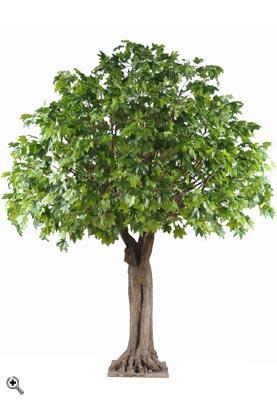 Arbre forestier artificiel platane arbre d coration pour for Arbre artificiel pour interieur