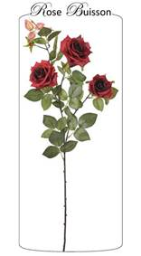 Roses rouges en buisson 95cm