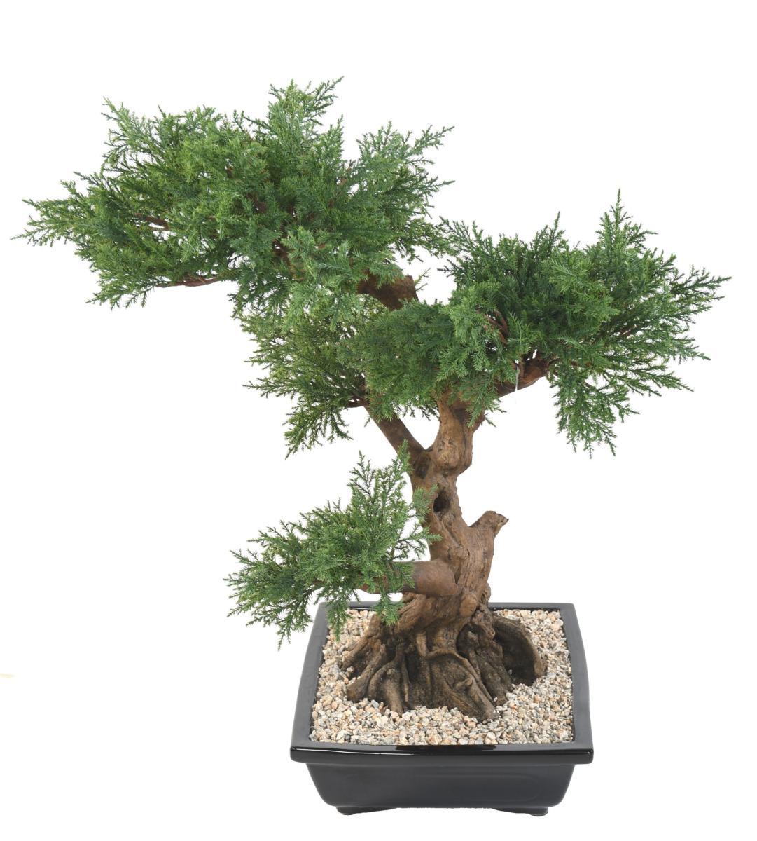 arbre artificiel bonsa juniperus en coupe plante synth tique int rieur cm. Black Bedroom Furniture Sets. Home Design Ideas