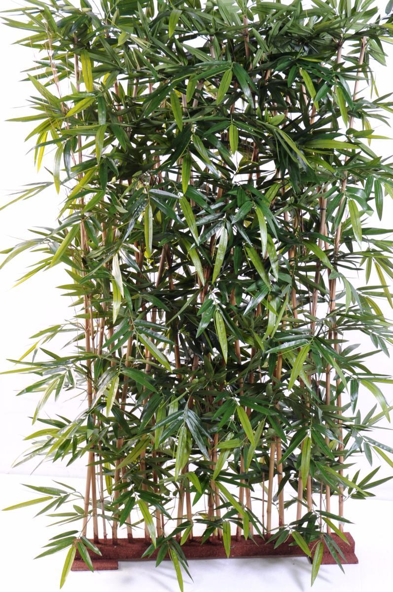 Haie Artificielle En Bois : Haie artificielle Bambou New haie – int?rieur – H.150cm socle 75cm