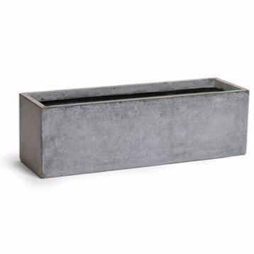 jardini re balconni re int rieur ext rieur cm gris fiberstone. Black Bedroom Furniture Sets. Home Design Ideas