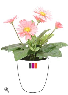fleur artificielle gerbera plante fleurie en piquet cm rose. Black Bedroom Furniture Sets. Home Design Ideas
