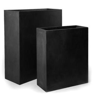 bac pour fleur muret int rieur ext rieur balcon x noir fiberstone. Black Bedroom Furniture Sets. Home Design Ideas