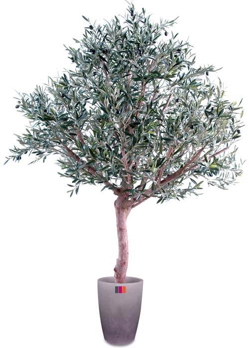 Arbre fruitier artificiel olivier t te large et olives for Arbres artificiels interieur