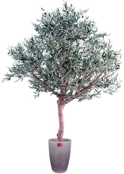 Arbre fruitier artificiel olivier t te large et olives for Arbre artificiel pour interieur