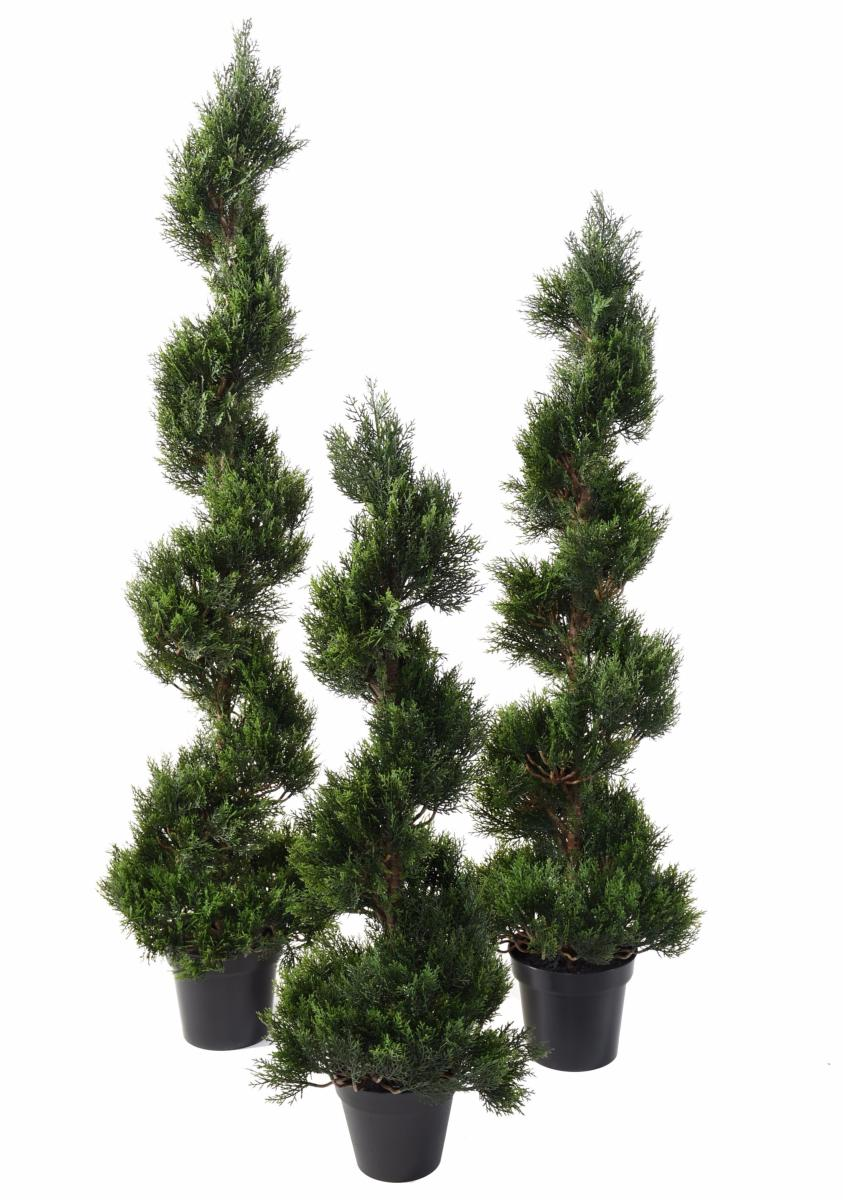 Plante artificielle cypr s new spirale ext rieur for Plantes vertes vivaces exterieur