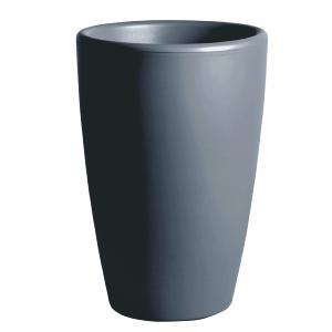 pot pour fleurs vase int rieur ext rieur x cm gris. Black Bedroom Furniture Sets. Home Design Ideas