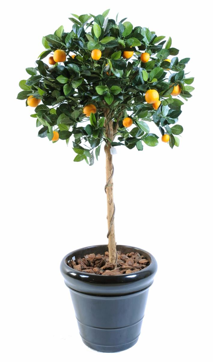 Arbre artificiel fruitier oranger t te en pot int rieur for Arbre artificiel