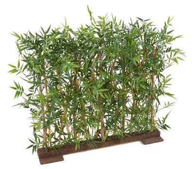 Haie artificielle bambou japanese plastique uv ext rieur for Bac lierre plastique