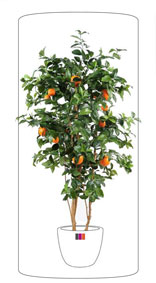 Arbre artificiel fruitier Oranger new  - intérieur - H.150 cm vert orange