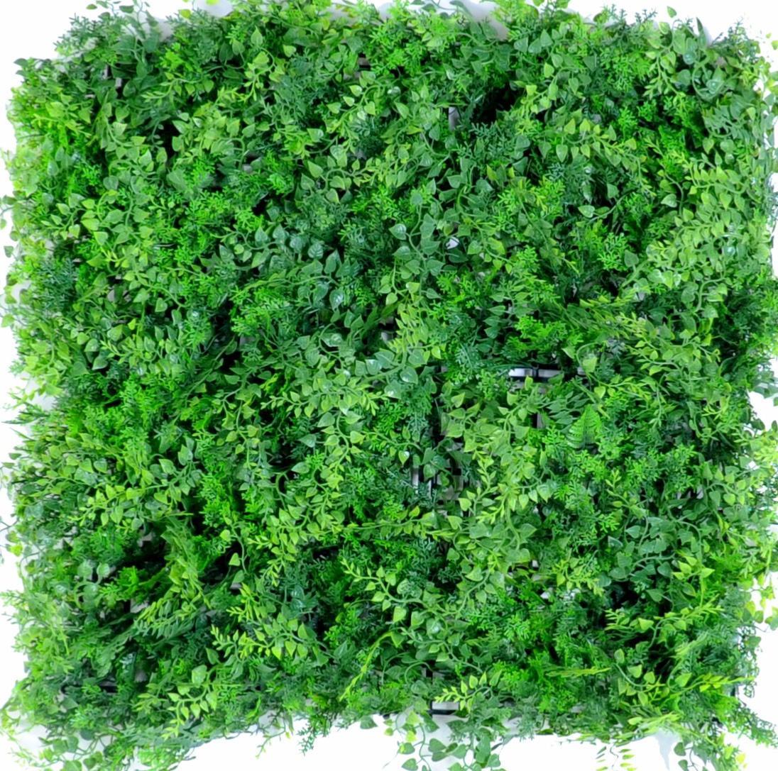 mur v g tal artificiel foug re d coration murale h 50 cm vert. Black Bedroom Furniture Sets. Home Design Ideas