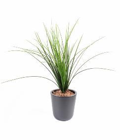 Plante artificielle herbe onion grass plastique en piquet for Plante plastique exterieur