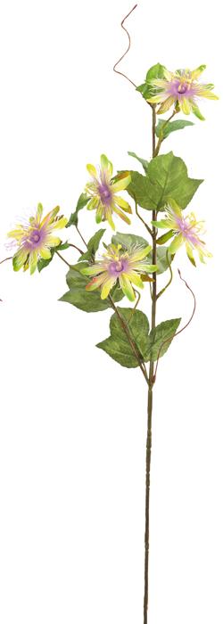 Fleur artificielle passiflore fleurs en tissu cm for Fleurs artificielles tissu