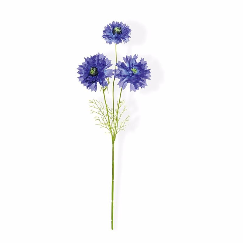 Fleur artificielle bleuet 3 fleurs composition bouquet for Fleure artificiel