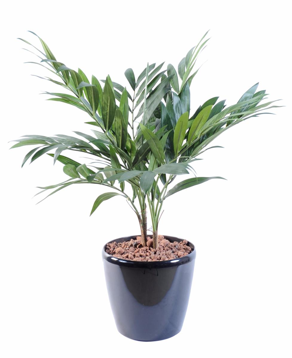 Palmier artificiel parlour en pot plante synth tique d for Plantes fleuries exterieur en pot