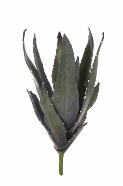 Plante artificielle Aloe vera en piquet - intérieur - H.57 cm vert