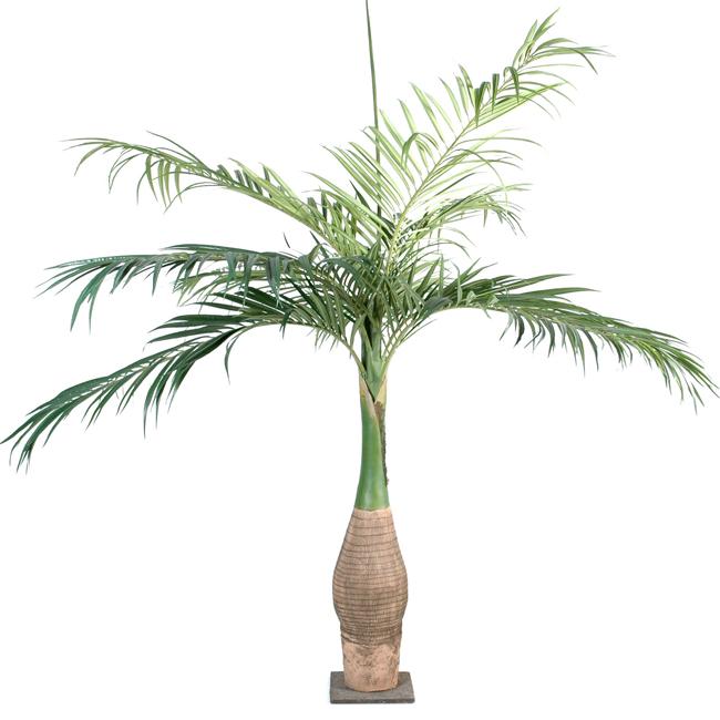 palmier artificiel forme bouteille ambiance tropicale