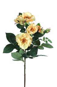 Fleur artificielle coupée rose Mandy - natural touch - H.45cm jaune