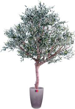 Arbre fruitier artificiel olivier t te large et olives for Arbre artificiel pour interieur