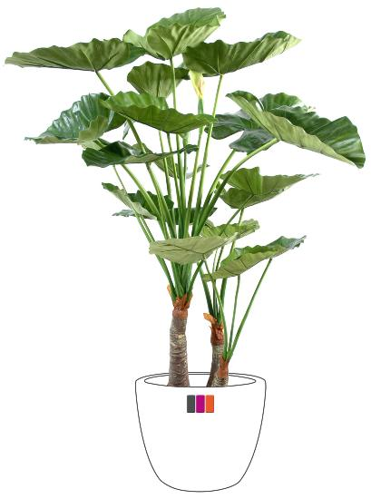 Plante artificielle tropicale alocasia 120cm for Plante tropicale exterieur